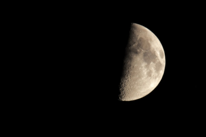 The moon with a mirror lens.