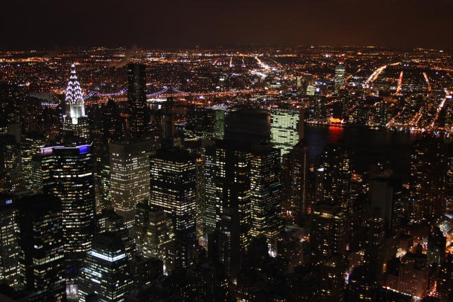 New York from the top of the empire state building. (Shot with a Canon 1000D)
