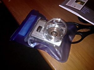 Aqua bag - a cheap underwater sealed bag (with a £7 second hand camera)