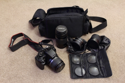 The full kit - for £195, all fits in a bag (which I got for 50p in a local charity shop).