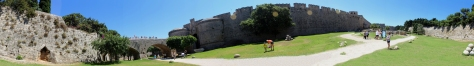 The medieval town wall of Rhodes. (Please click to enlarge)