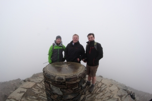 Shrouded in cloud, the peak of Snowdon was NOT the place to take photos...