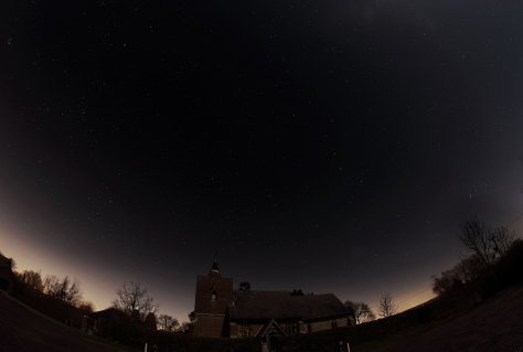 Tudeley Church under the stars (shot at 6.5mm)