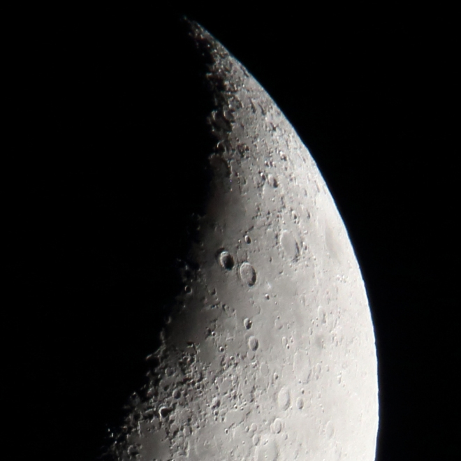 The moon shot with the Tamron 150-600mm at full zoom with a 2x teleconverter