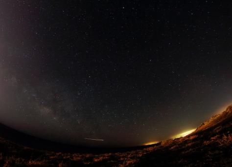 The Milky Way over Puerto Calero, Lanzarote