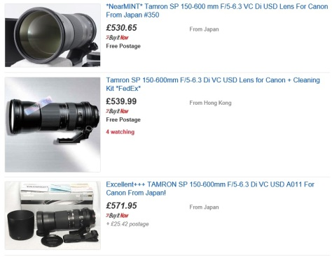 Tamron 150-600mm, now available for less than £600 easily.
